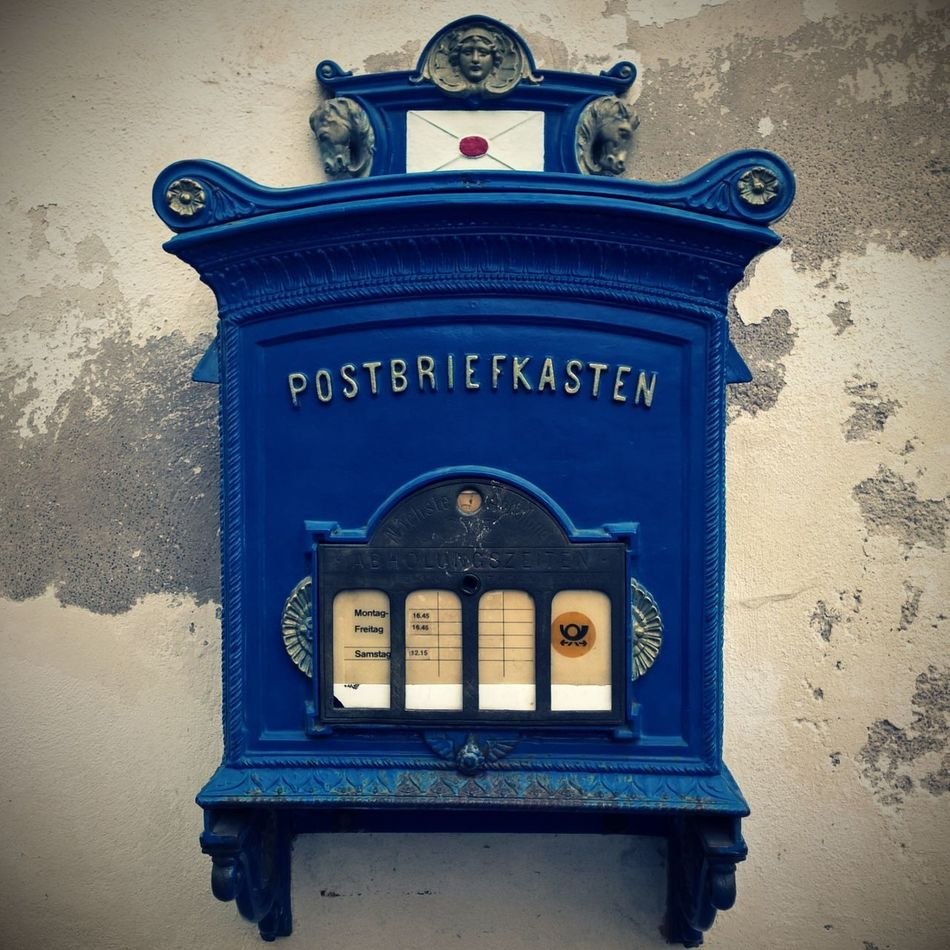 Old fashioned whats app... Blue Close-up Communication Day Lumia930 Mailbox No People Old-fashioned Outdoors Text