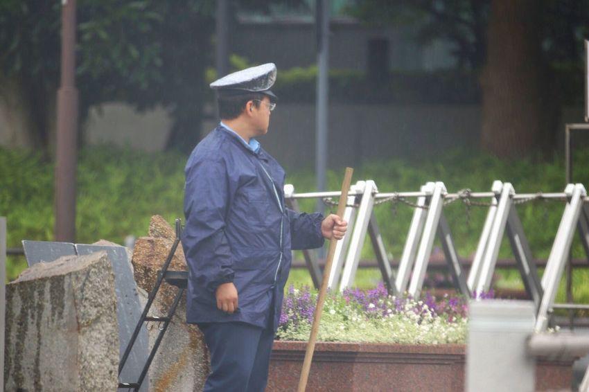 Man Japan Outdoors Day Standing Nature Portrait Officer Uniform Work