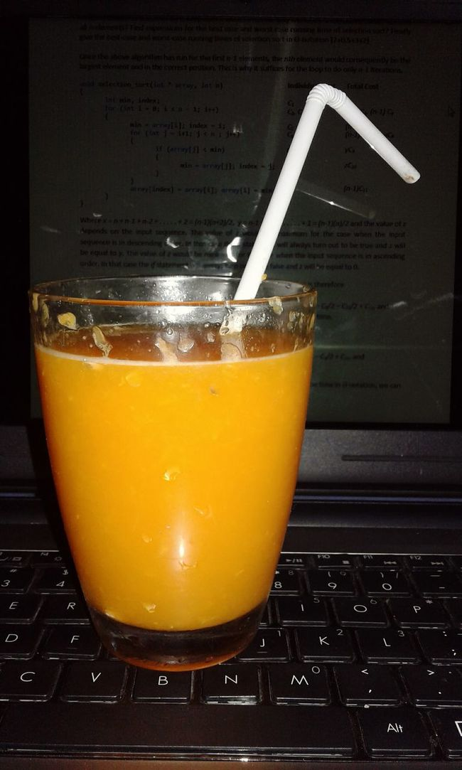 Orange Juice  The Mix Up Glass Laptop Examprep ExamWeek Examstime Exams Laptop Keyboard Laptop Work Juiceonglassedges Smartphonephotography Glass On Keyboard Colour Of Life Home Is Where The Art Is