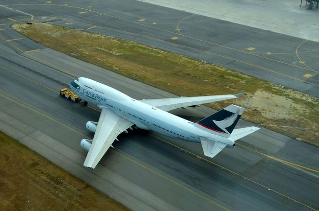 CX 747 from HKIA control tower Plane Cathay Pacific HKIA Runway Control Tower HongKong Boeing 747 Airplane Aircraft Transport Travel Traveling Flight Boeing 747 Jumbo Jumbo Jet Jumbojet AirPlane ✈ Aeroplane Cx Flying