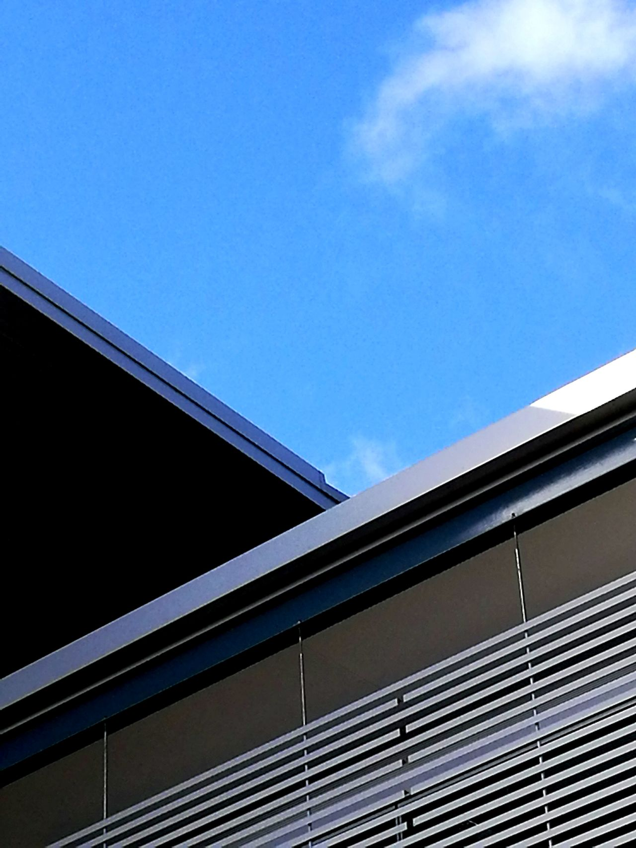 Clean simple architectural linesAdapted To The City EyeEm Best Shots The Week On EyeEem Architecture Low Angle View Outdoors Ladyphotographerofthemonth Clear Sky Built Structure Building Exterior Fine Art Photograhy Minimalistic At The Whangarei Library Forum North