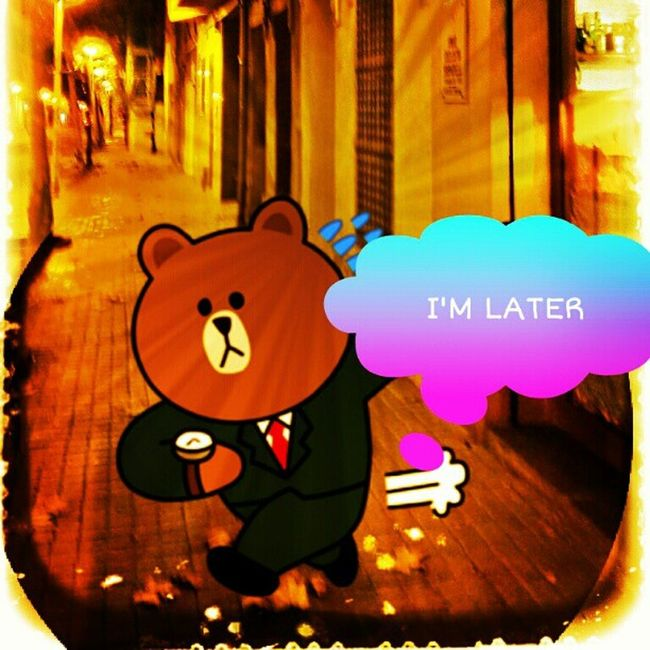 I'm later ...and you? ??