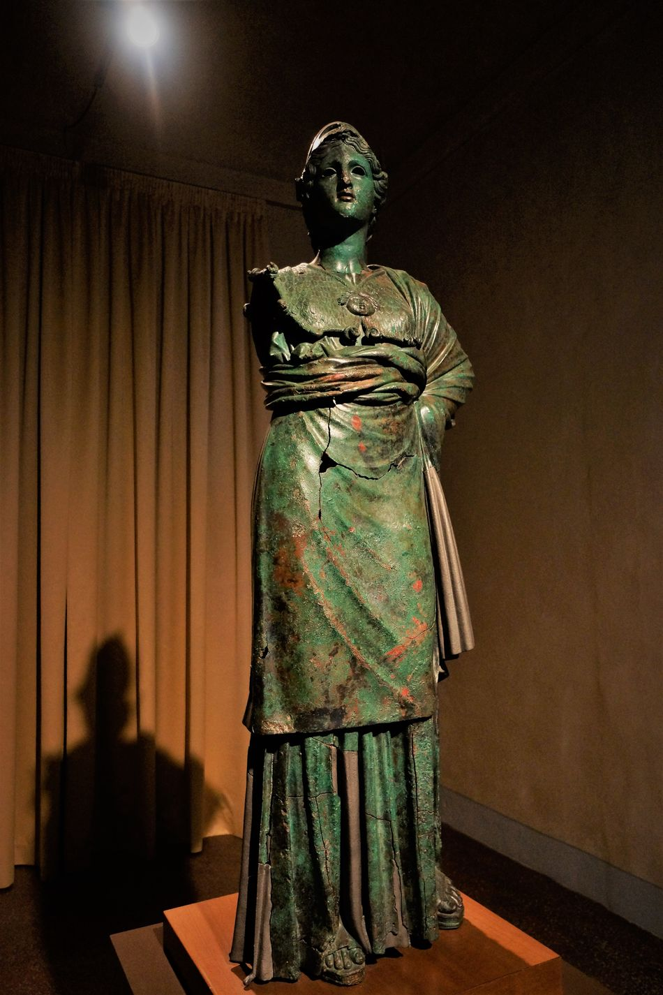 Museo Archeologico Arts Culture And Entertainment Bronce Etruscian Art Indoors  People Stage - Performance Space Standing Woman Statue