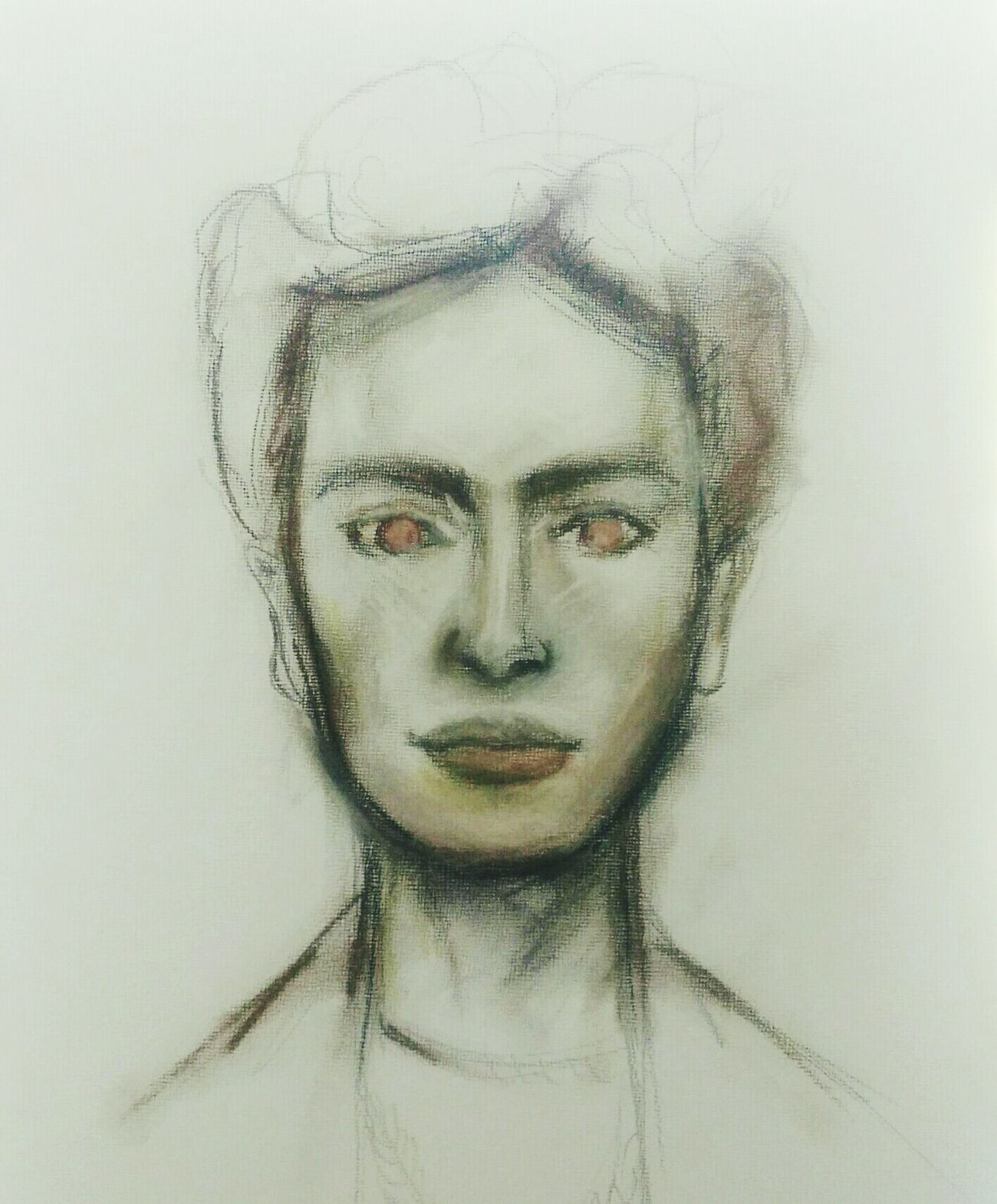 Unfinished Work... Unfinished_art Portrait Drawing Art, Drawing, Creativity Fridakahlo