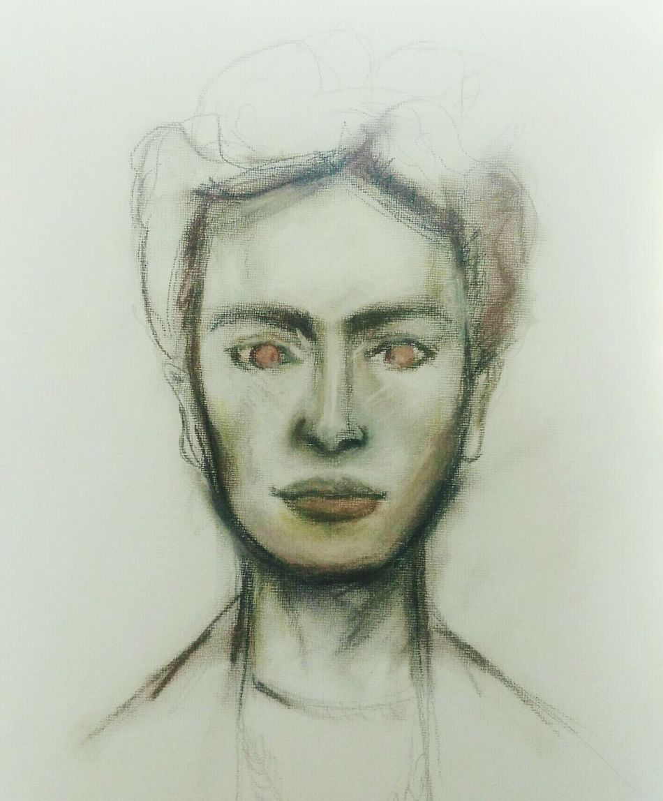 Unfinished Work... Unfinished_art Portrait Drawing Art, Drawing, Creativity Fridakahlo
