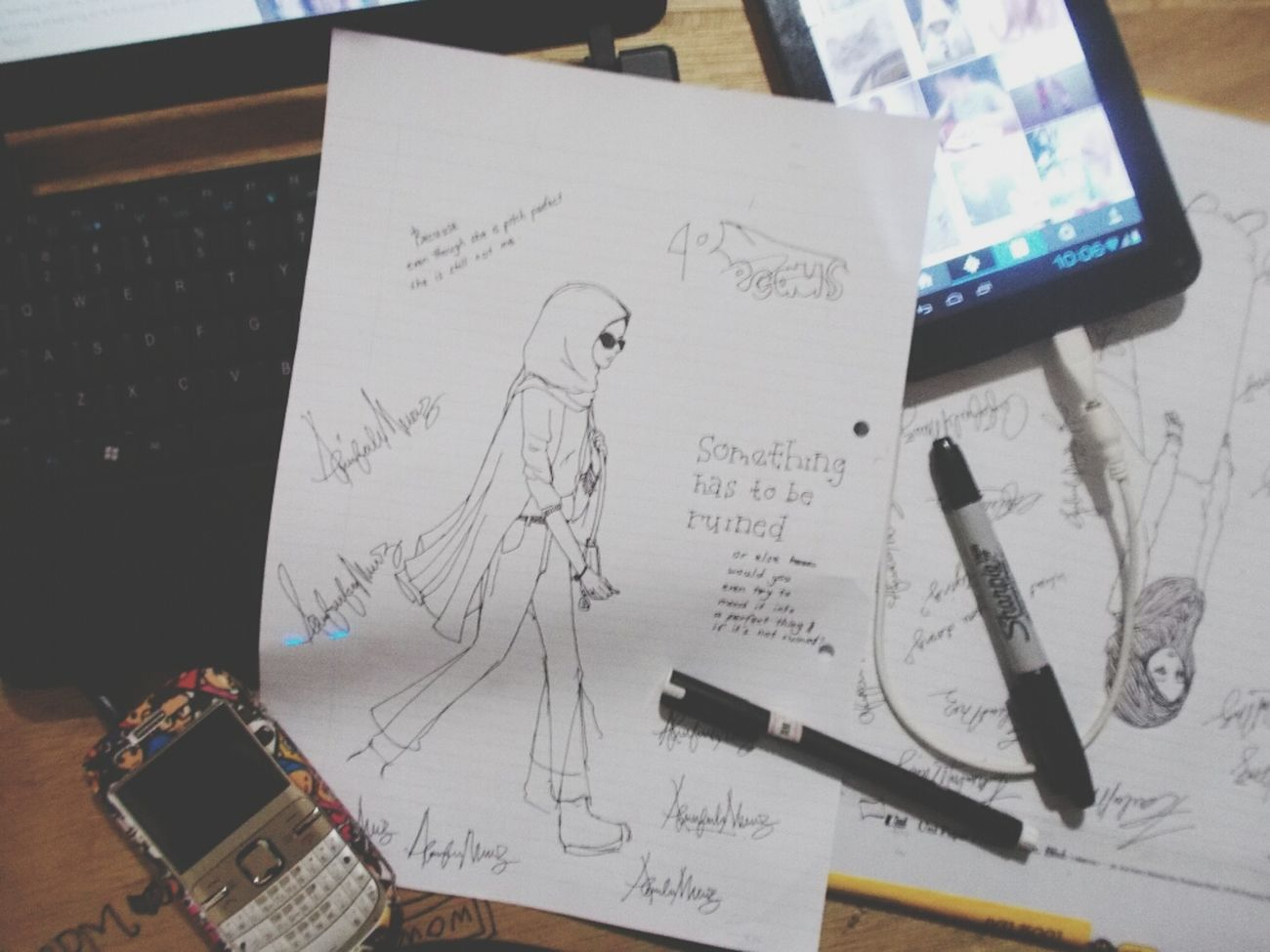 sketches doodles and boredness. Drawing