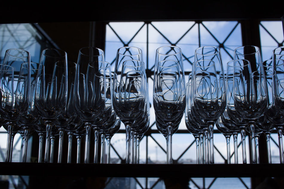 Close-up Day Light Glass Glasses In A Row Indoors  No People Table Arrangement