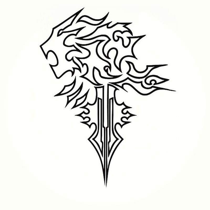 Eternal Symbol of my Childhood in which many of us can recognize. Second game of Finalfantasy series on Ps1 . Griever a symbol I will never forget and will be marked on my back as Tattoo . Finalfantasy8 Game Memories Lionheart