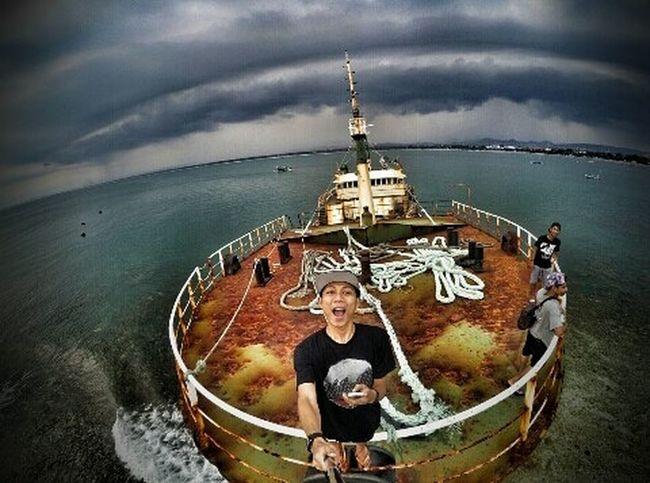 Eyeem Selfie ✌ Eyeem Boats Eyeem Sea Pangandaran Beach Pasir Putih Kapal Viking