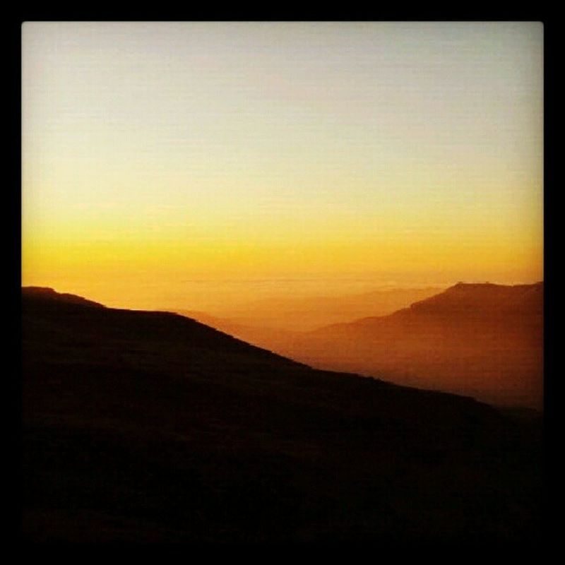 a Sunset View. in the Lebanese Mountains. Supercolors