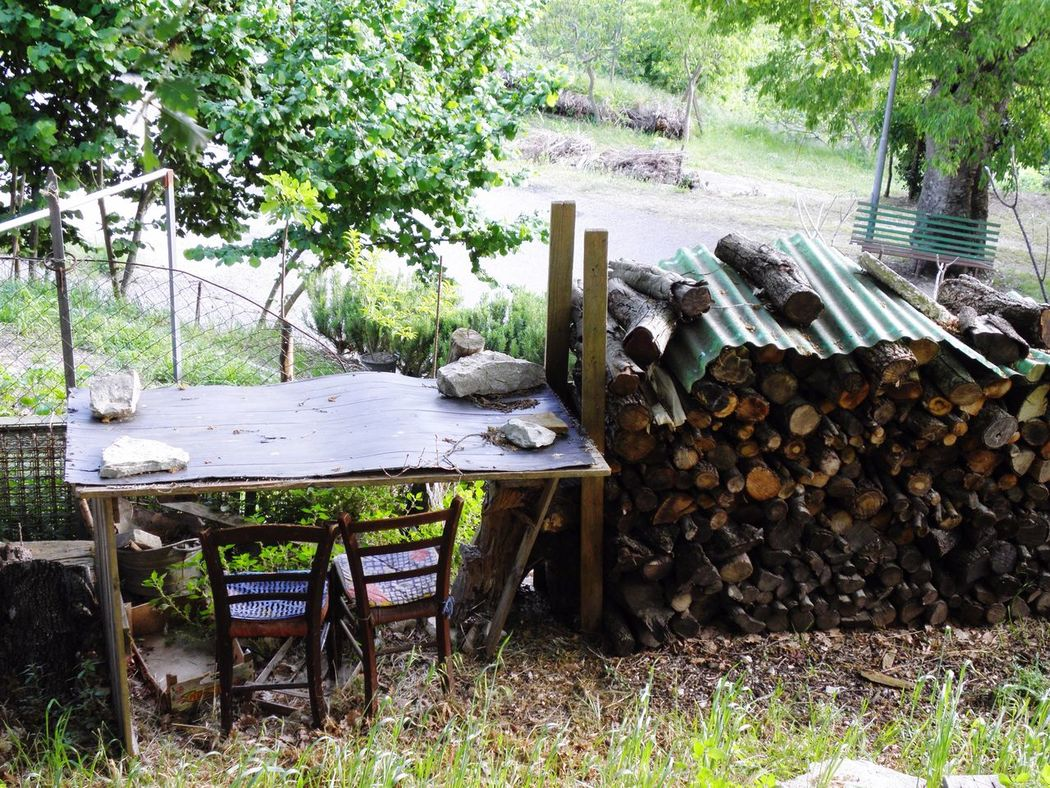 Wood - Material Outdoors Large Group Of Objects Nature Table Chair Chairs Old Fascinating Recicling Materials Wood Tree Day Wood Pile Wood Chair