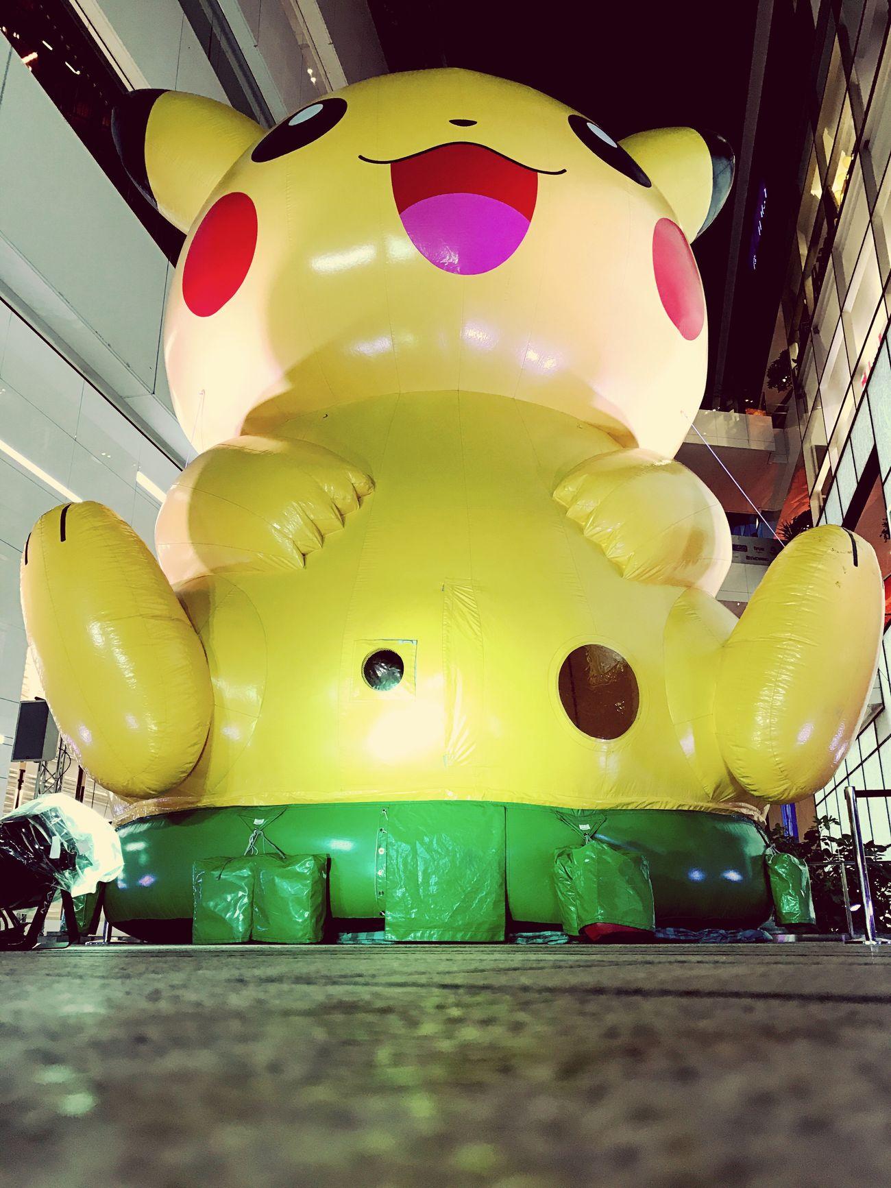 Symbol Yellow No People Inflatable  Pokémon Pikachu Thailand Emquatier