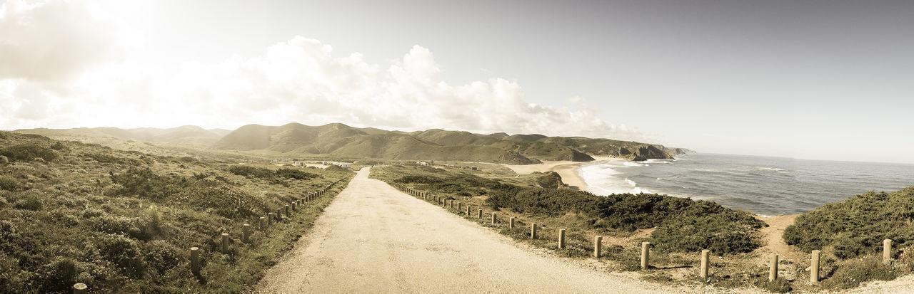 Amado Beach Road Coast Coastal Road Portugal Praia Road Road To The Sea Sea Way