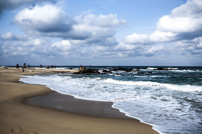 Jeongdongjin Gangreung South Korea Korea Winter Sea Beach