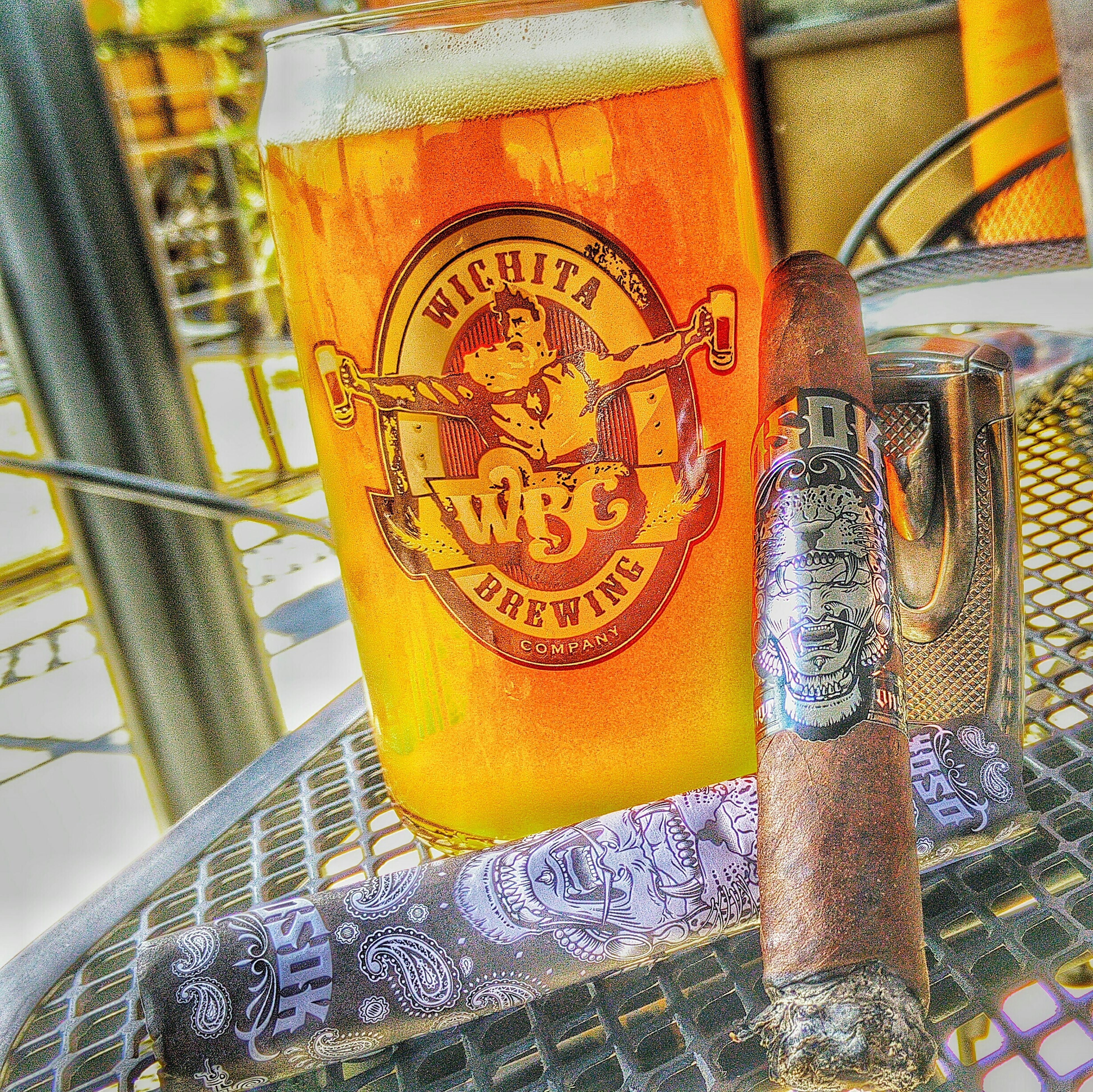 Beautiful afternoon at @wichitabrew EastSide Craftbeer Cigars OSoK