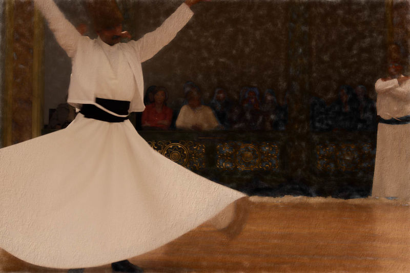 Dervish Dancers Casual Clothing Chant Day Dervish Dervish Dance Focus On Foreground Istanbul Turkey Leisure Activity Lifestyles Religious  Religious Ceremony Spinning Spinning Around Spirituality Sufi Sufism Tradition Traditional Clothing Traditional Culture