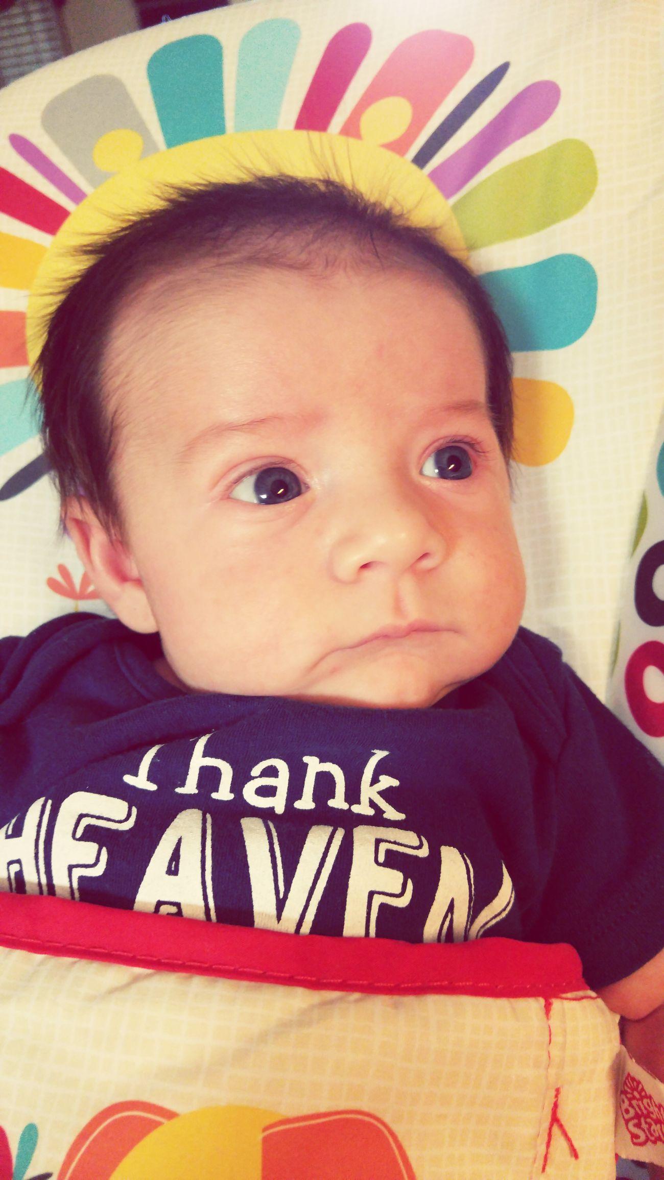 Blue eyed baby boy