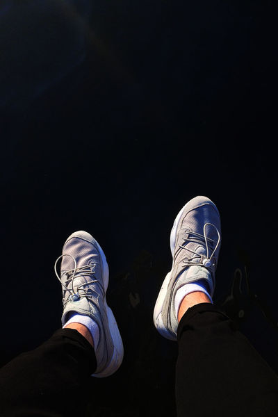 Black Background Close-up Day Human Body Part Human Leg Lifestyles Low Section Men One Person Outdoors People Real People Shoe Sneaker Sneakerhead  Standing