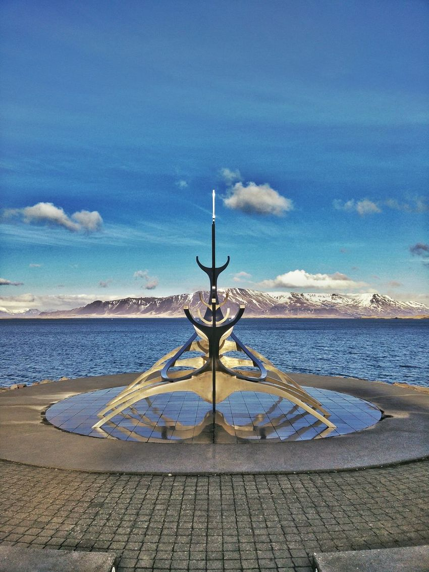 Voyager Reykjavik Iceland Mountains Mountains And Sky Mountains And Clouds Harbor View Monument Statue Art Installation The Sun Voyager Sólfar Showcase April