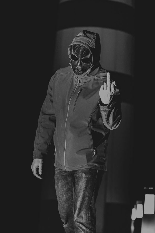 Simple..F** you and have a nice Day Black Black Color Blackandwhite Dark FuckYou Horror Nice Day Psycho Skull ThatsMe Thats Me