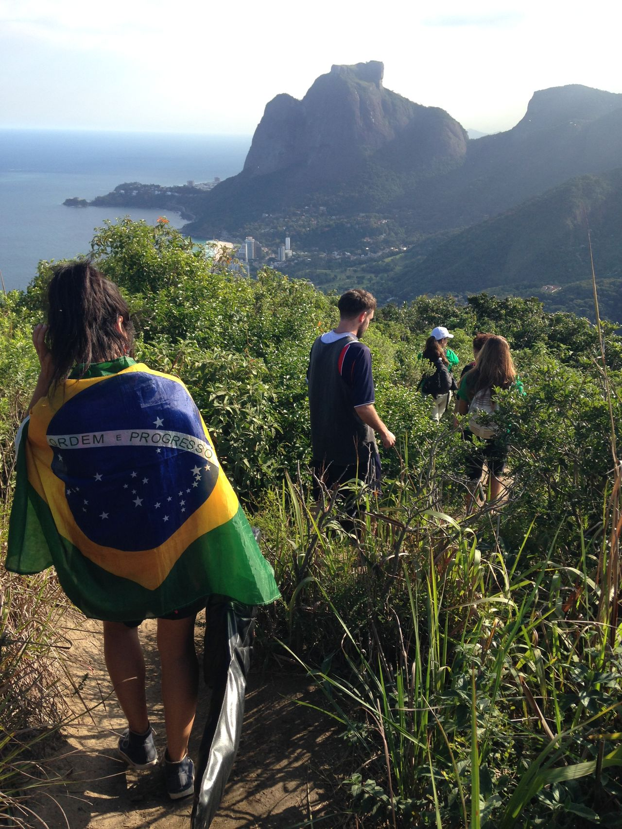 Beautiful stock photos of rio de janeiro, Brazil, Day, Five People, Flag