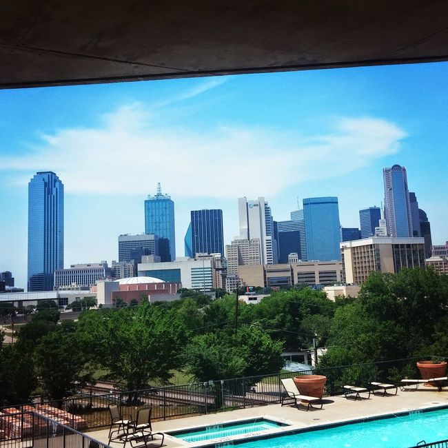 Dallas skyline Dallas Tx Dallasskyline Intheair