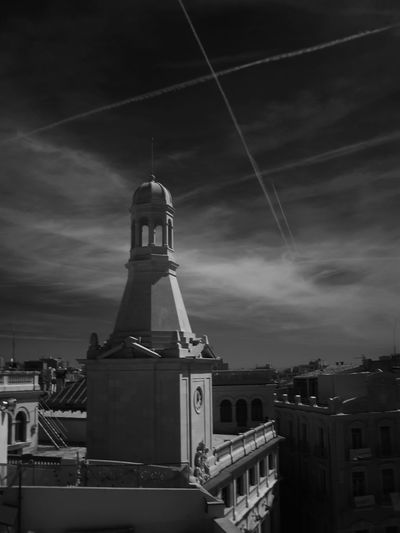 Architecture Building Exterior Built Structure City Cloud - Sky Day Infrared Photography No People Outdoors Reus Town Council Sky The City Of Reus 04-23-2017