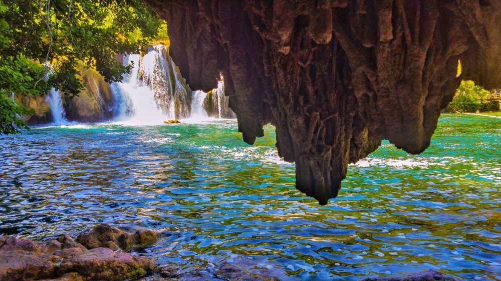 Agriculture Water Nature Field Outdoors Rural Scene Scenics Beauty In Nature Tree No People Day Tree Fische Naturepark Green Color Beauty In Nature Backgrounds Nature Full Frame Waterfall Croatia People