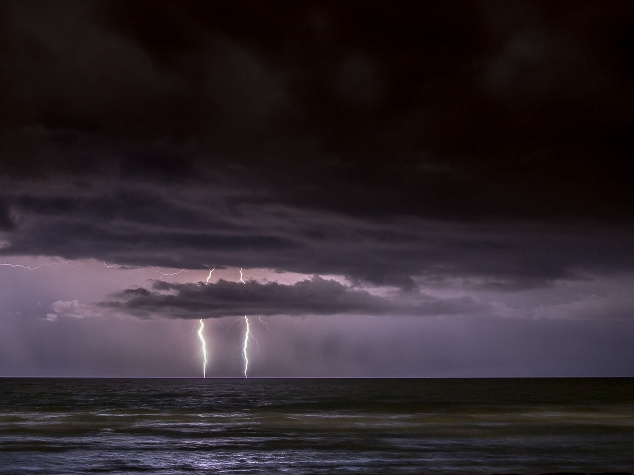 Beautiful stock photos of lightning, , Copy Space, Horizon Over Water, Lightning