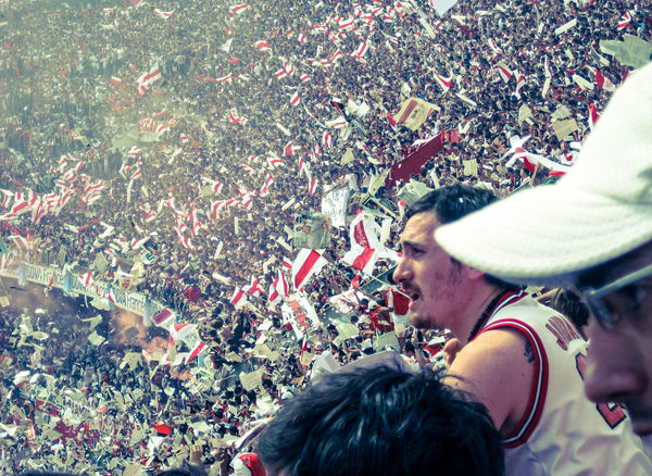 """During the """"Superclásico"""" in Buenos Aires: River vs. Boca. Maybe the biggest rivalry in sports. Crowd Culture EyeEm Gallery Fans Football Football Fever Leisure Activity Outdoors Passion Personal Perspective River Plate Soccer Sport Sports Photography The Portraitist - 2016 EyeEm Awards The Street Photographer - 2016 EyeEm Awards Unrecognizable Person My Year My View"""