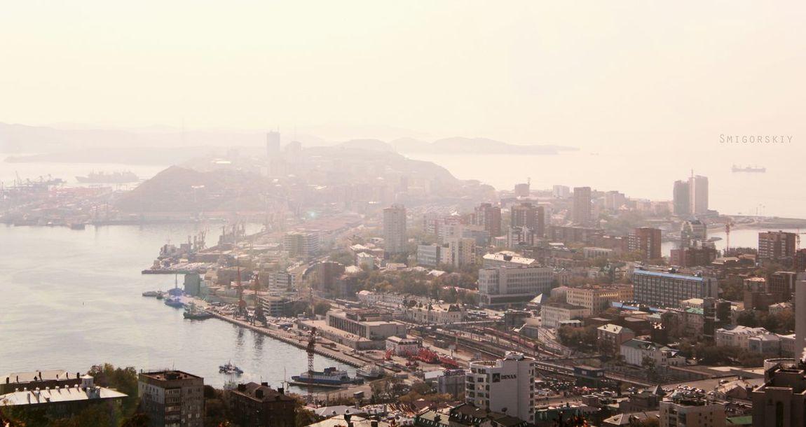 Vladivostok City Sea Horizon Beauty владивосток город Море Canon Canon550