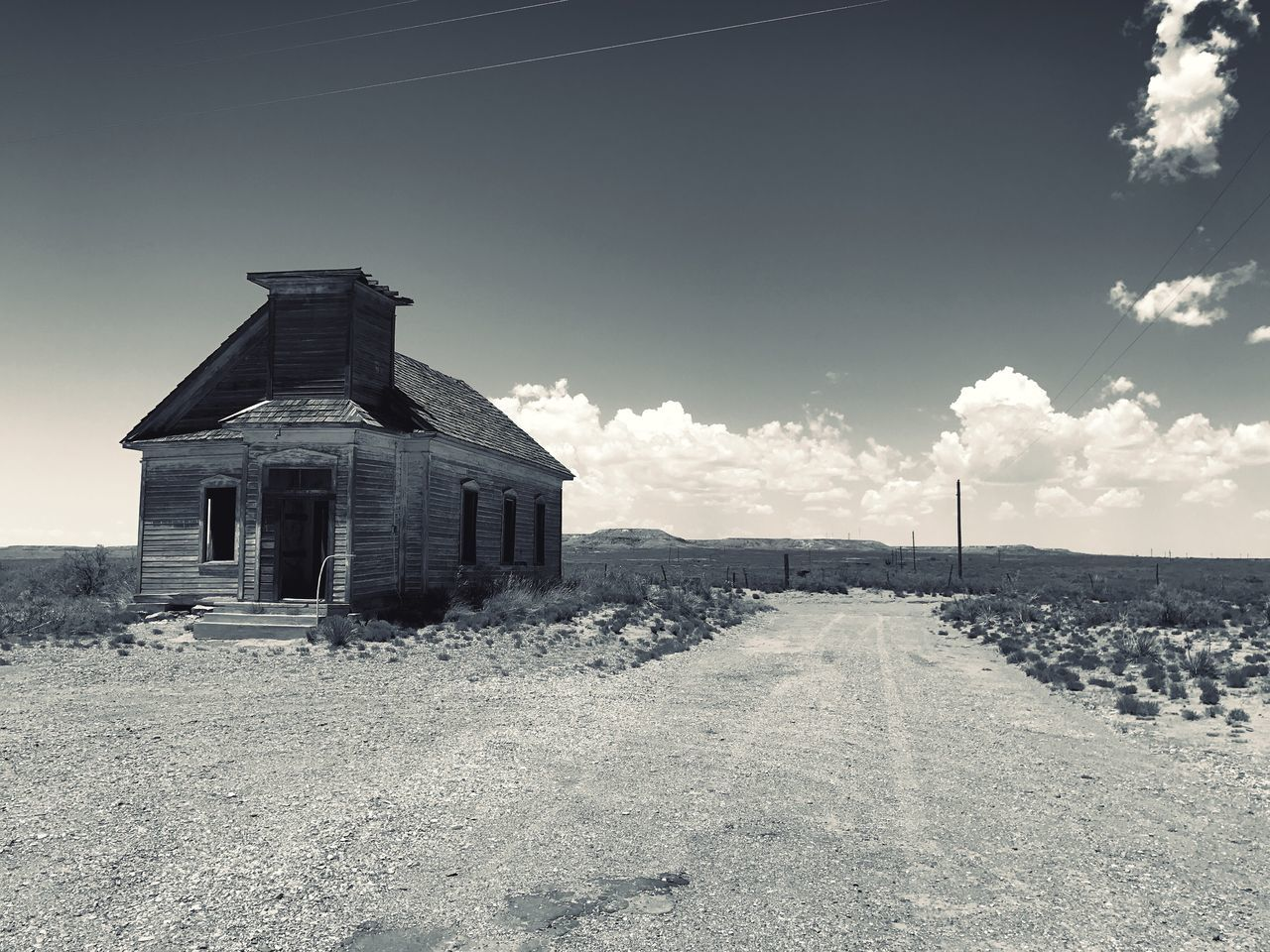 sky, architecture, built structure, abandoned, no people, outdoors, day, building exterior, nature, rural scene