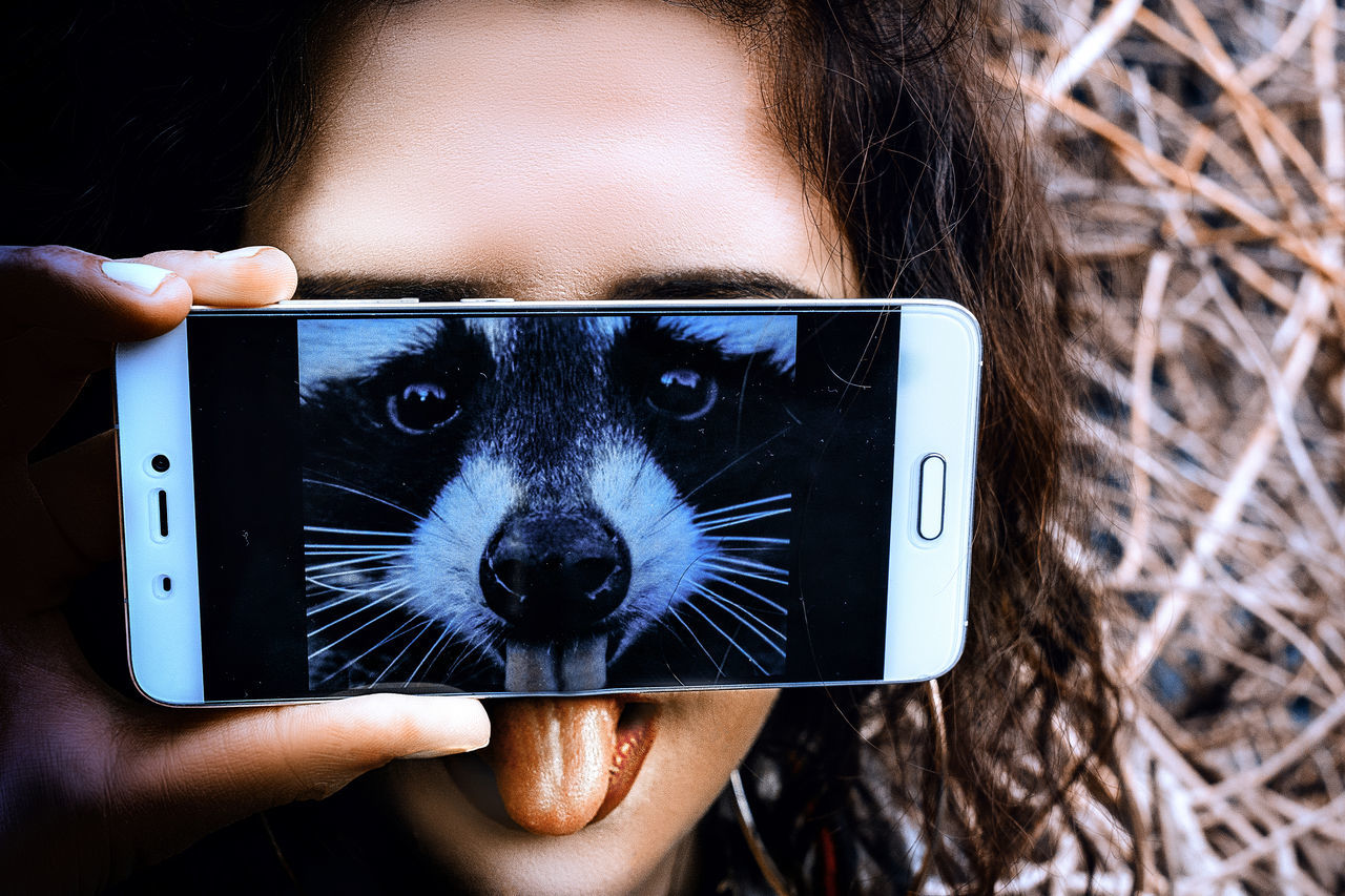 😁😝😜 Animal Body Part Animal Head  Animal Themes Looking At Camera Mobile Conversations Mobile Phone New Reality One Animal One Person Outdoors People Portable Information Device Portrait Selfie SMARTPHONE MASK Young Adult Mobile Conversations Mobile Conversations Welcome Weeklу