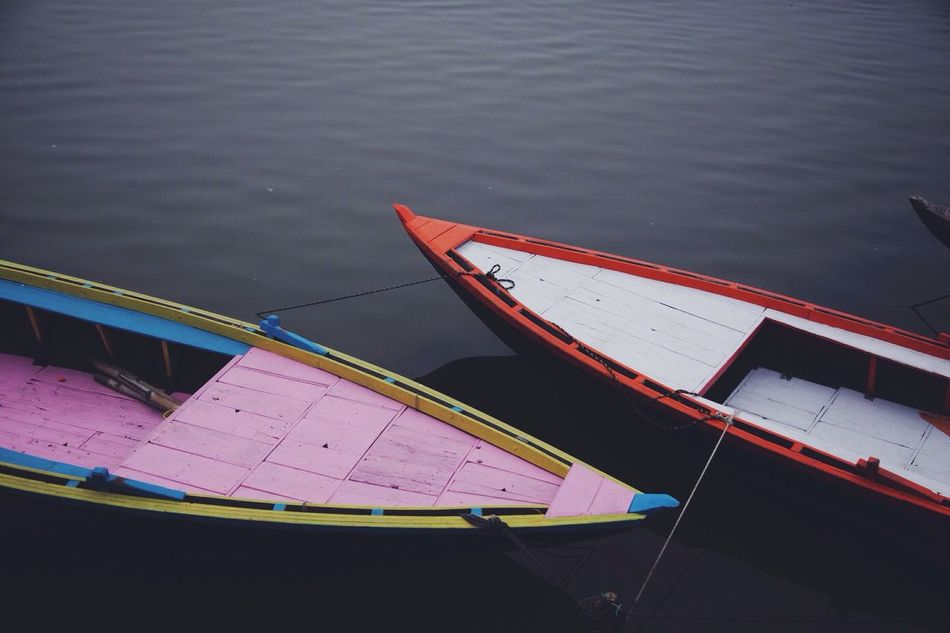 Beautiful stock photos of pink, Boat, Day, High Angle View, Lake