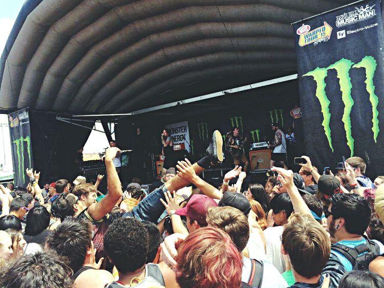 Vans Warped Tour Fun Music Beartooth Crowd Surfing Band Summer Loud Arizona Music Brings Us Together
