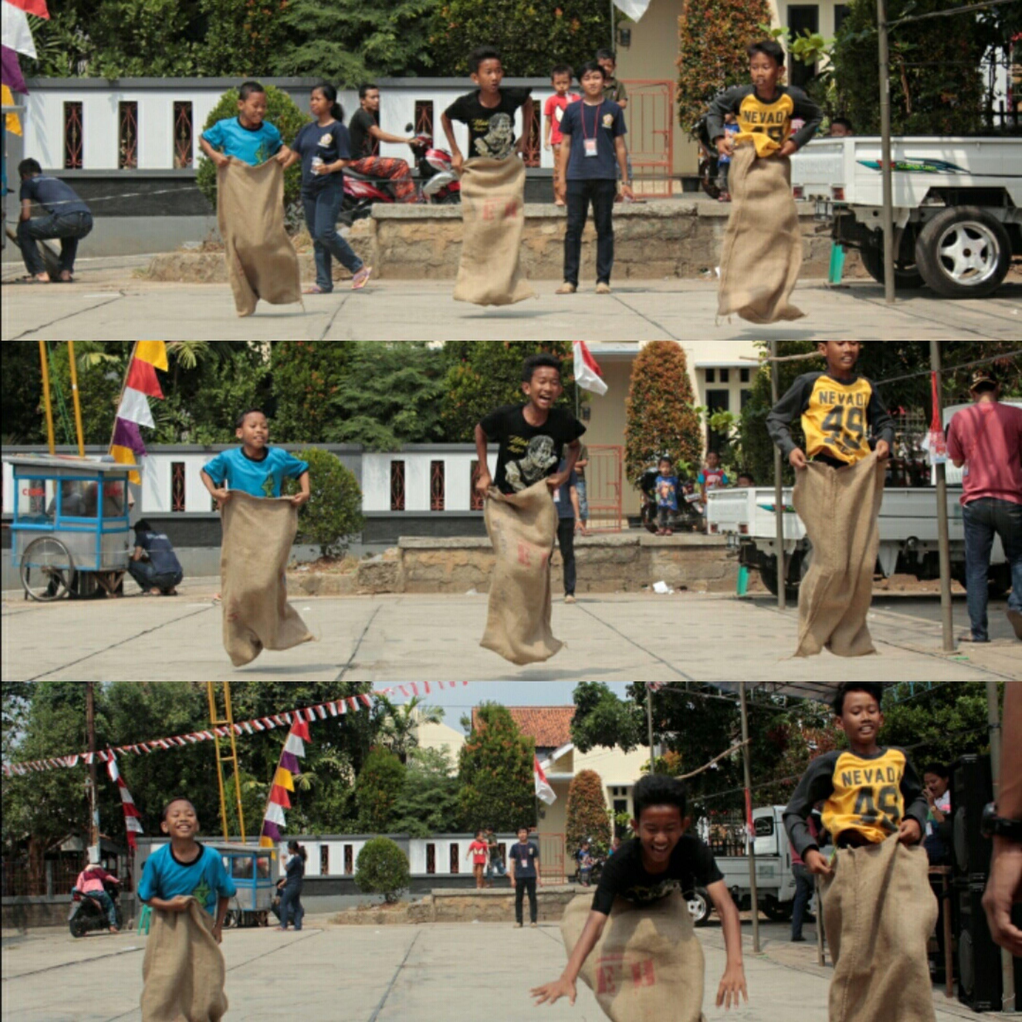 Independenceday Indonesia70th Traditionalgame Balap Karung