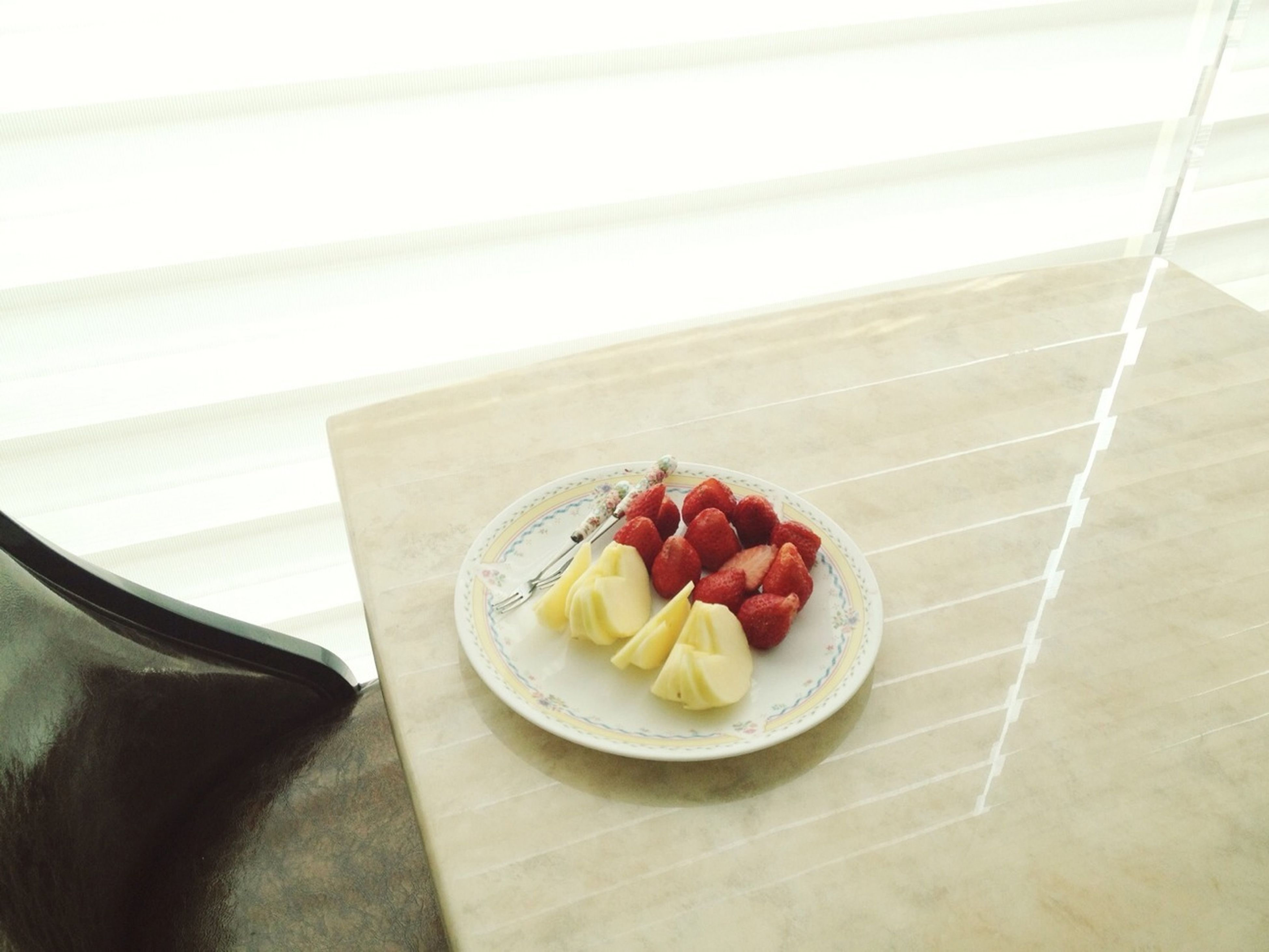 food and drink, food, freshness, ready-to-eat, indoors, plate, still life, table, indulgence, sweet food, dessert, healthy eating, strawberry, fruit, serving size, breakfast, temptation, close-up, slice