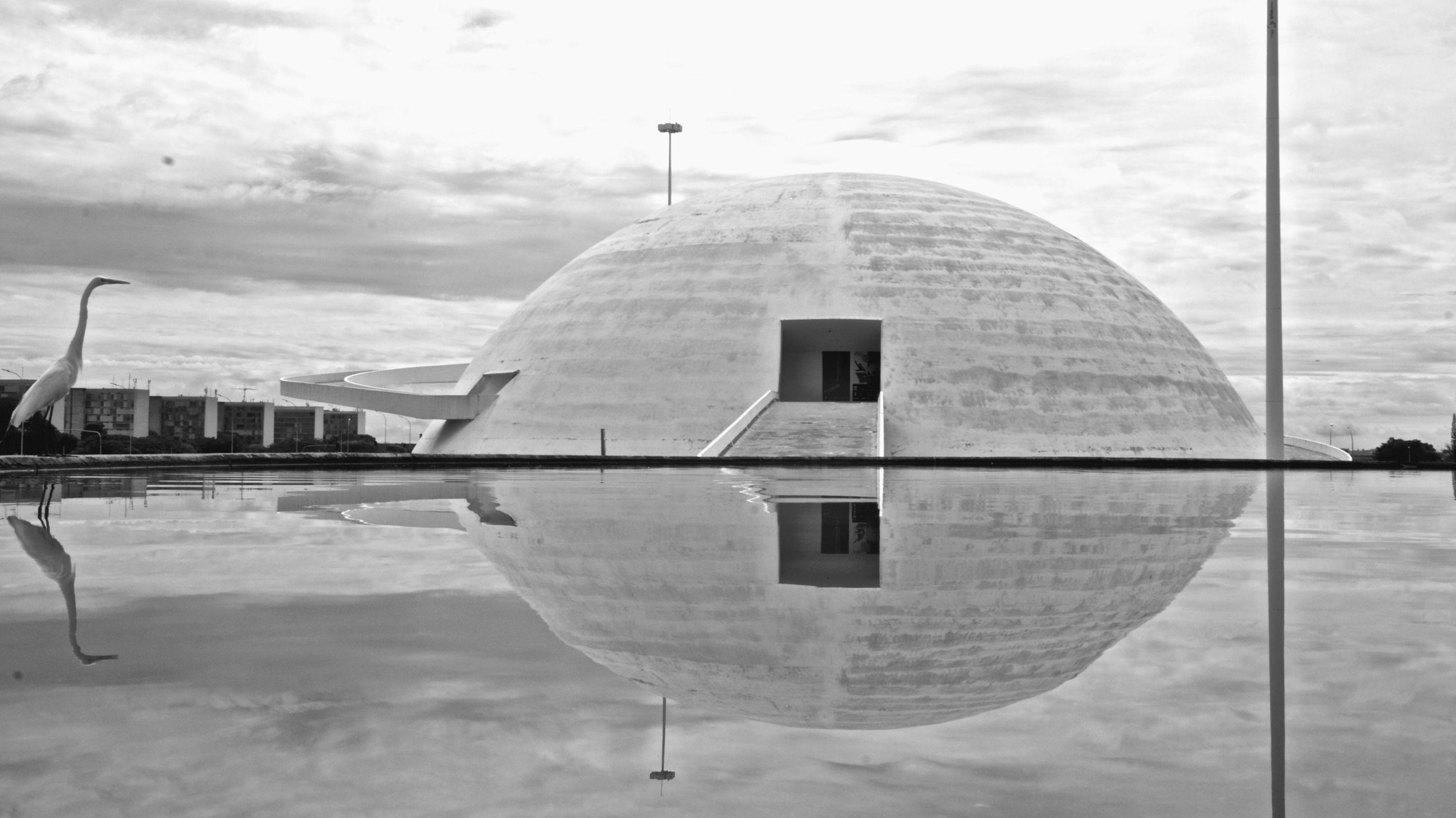 The Architect - 2015 EyeEm Awards Brasília Brazil Blackandwhite Birds Nationalmuseum Water Reflections