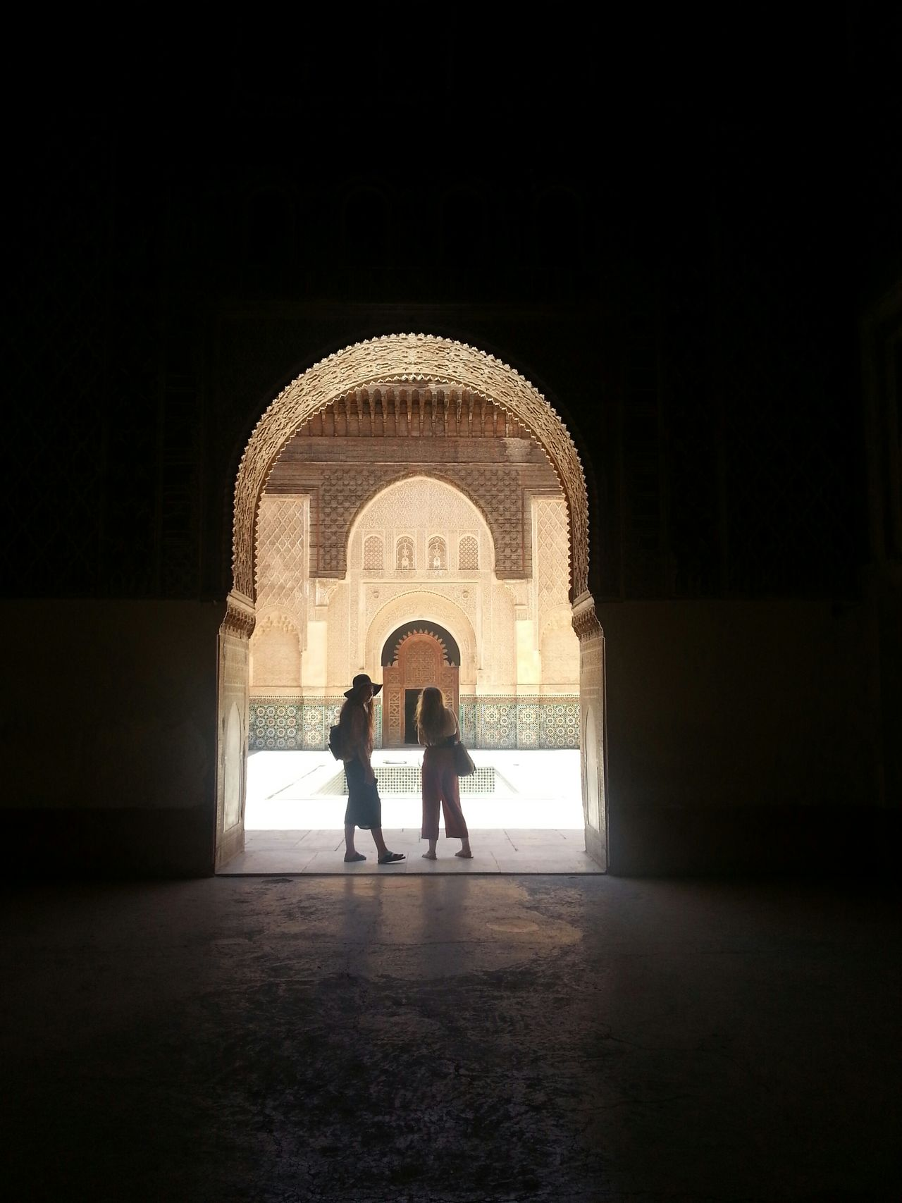 School Marrakech Sunlight Tourists Islamic Architecture Islam School