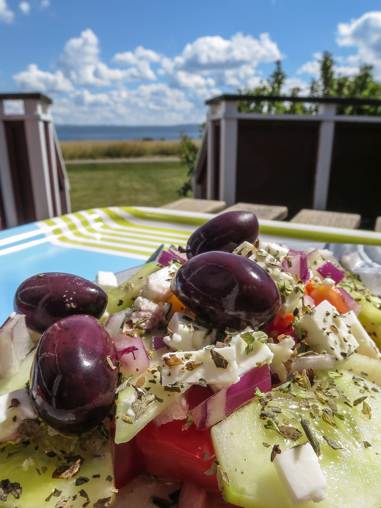 A Greek Salad a Hot Summer Day on Lovely Visingsö is amazing ☺