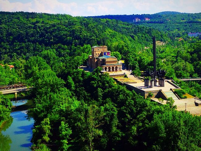 That view😍🏯 IPhone5 MyPhotography Sunny Day Landscape 64/100happydays Panorama Wood Zoom Green Green World River Nature EyeEm Nature Lover Trees VelikoTarnovo Architecture Temple Church View
