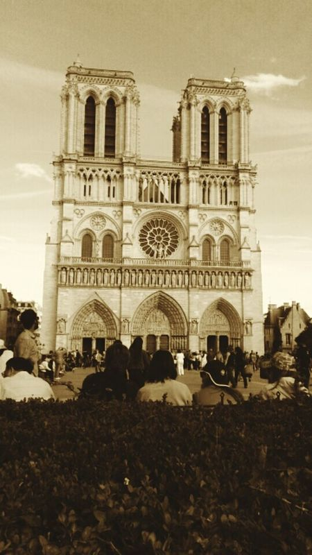 Architecture Church Spirituality History Travel Destinations Tourism Famous Place París In Sepia Paris ❤ Paris Je T Aime Notre-Dame