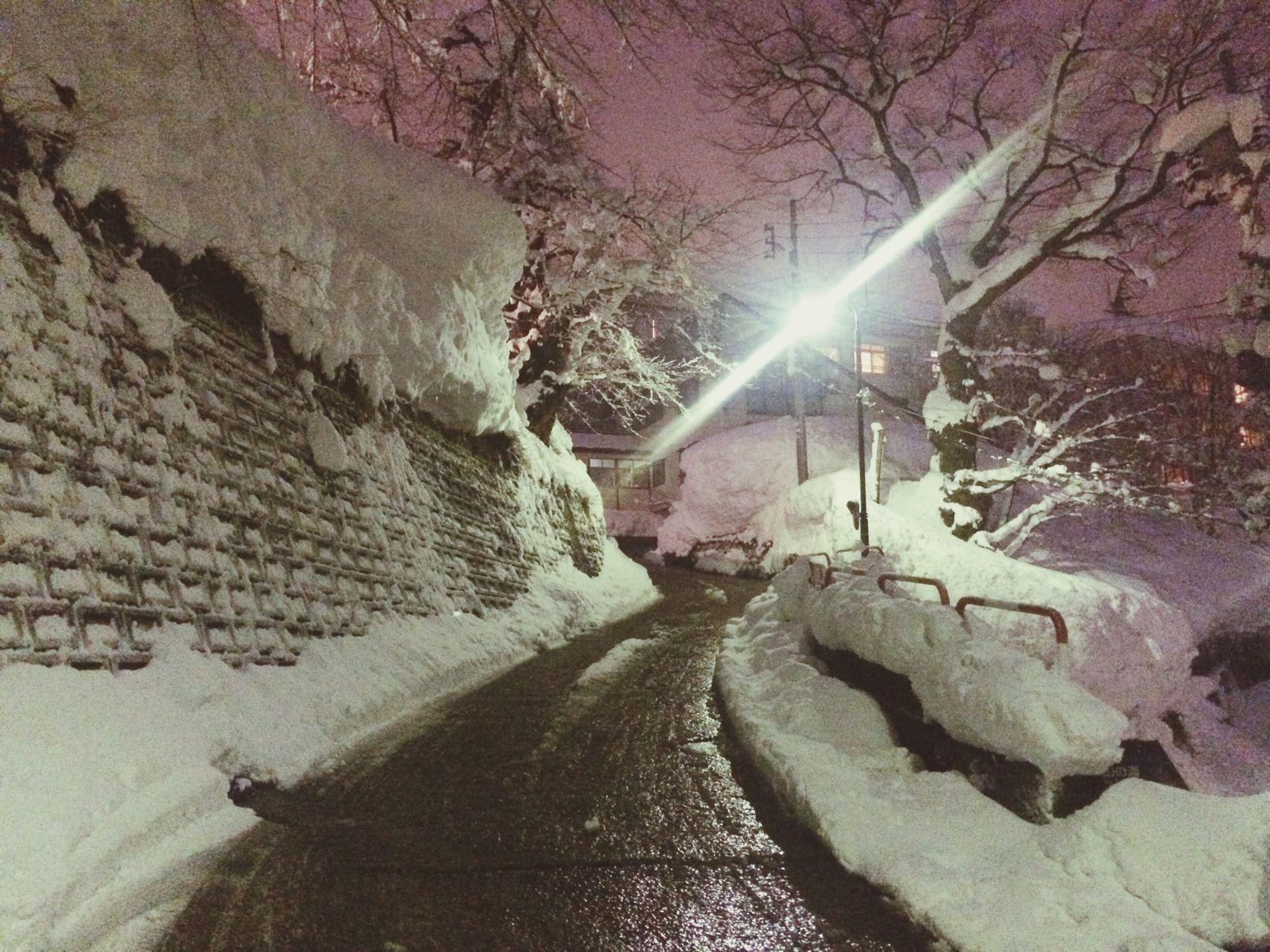 On the way to my favorite onsen. YUZAWA Snow