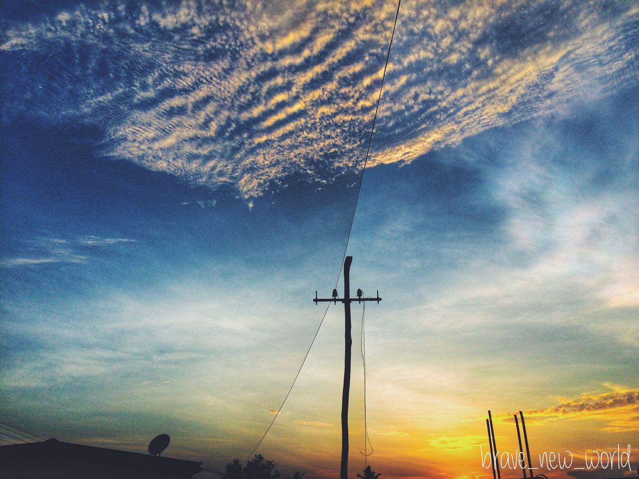 Sky Sunset No People Cloud - Sky Beauty In Nature Low Angle View Outdoors Nature Scenics Technology Tree Day