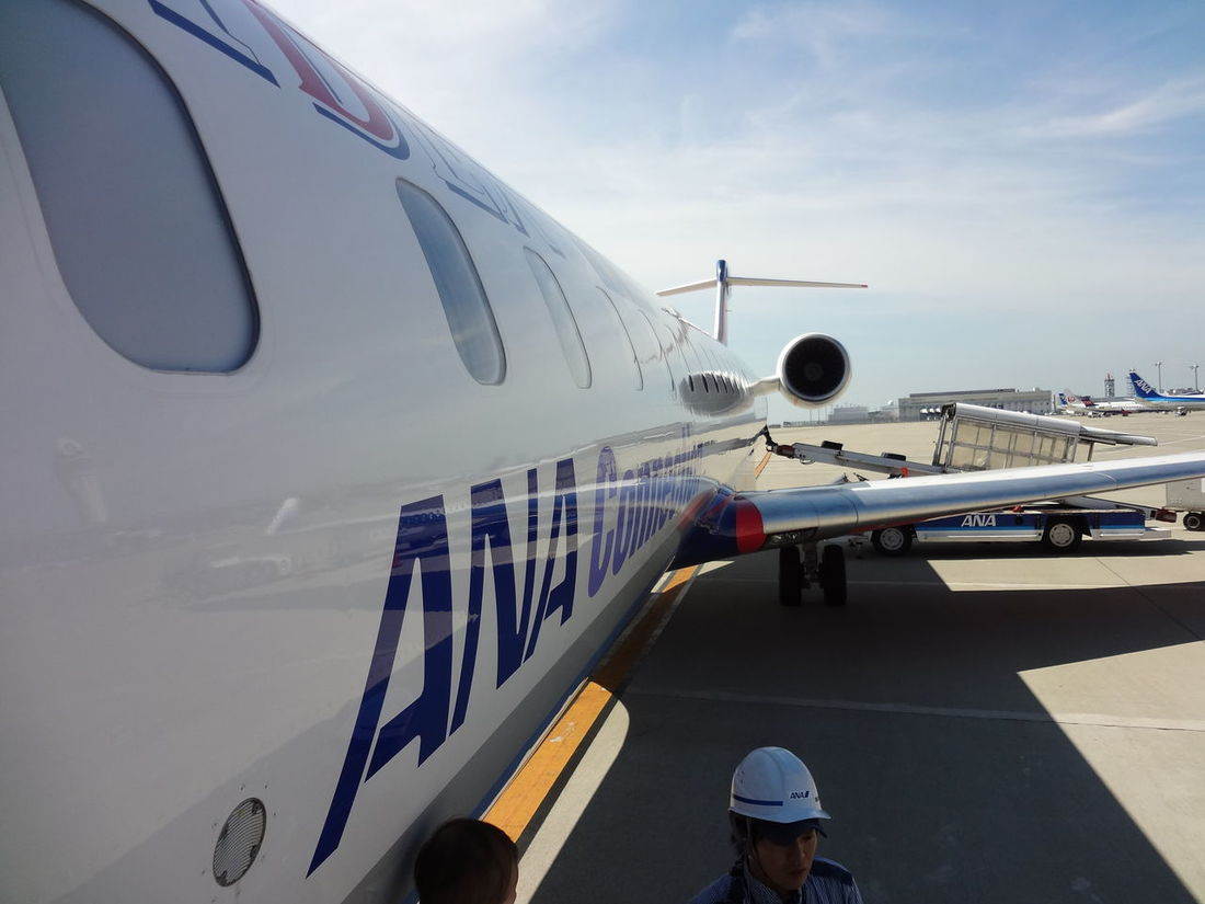 Airplane Airplane Wing Airport All Nippon Airways Public Transportation