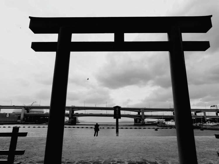A Point Of Irony In The Middle Of The Weekend TORII Shrine Taking Photos Cloudy オレ様💕