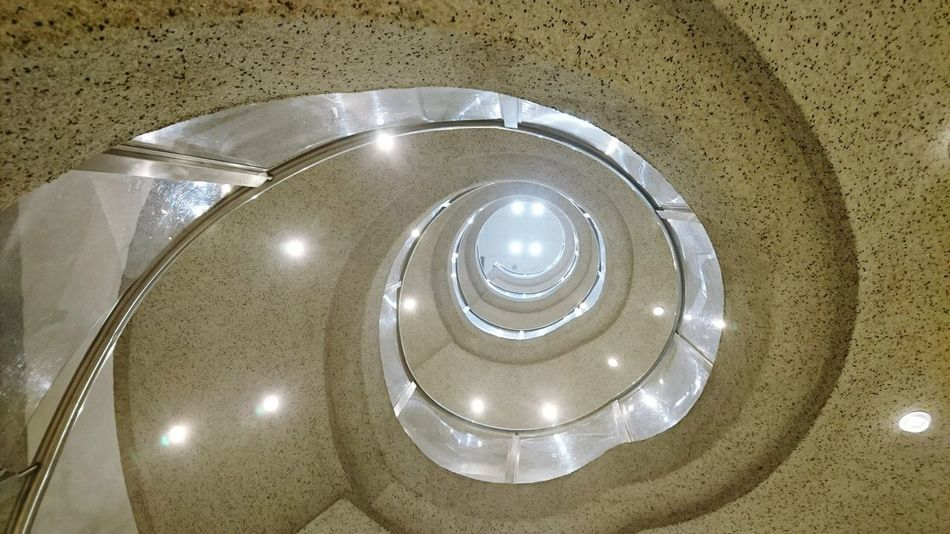 Spiral Stairs Spiral Staircase Lights PhonePhotography Phoneography Perspective