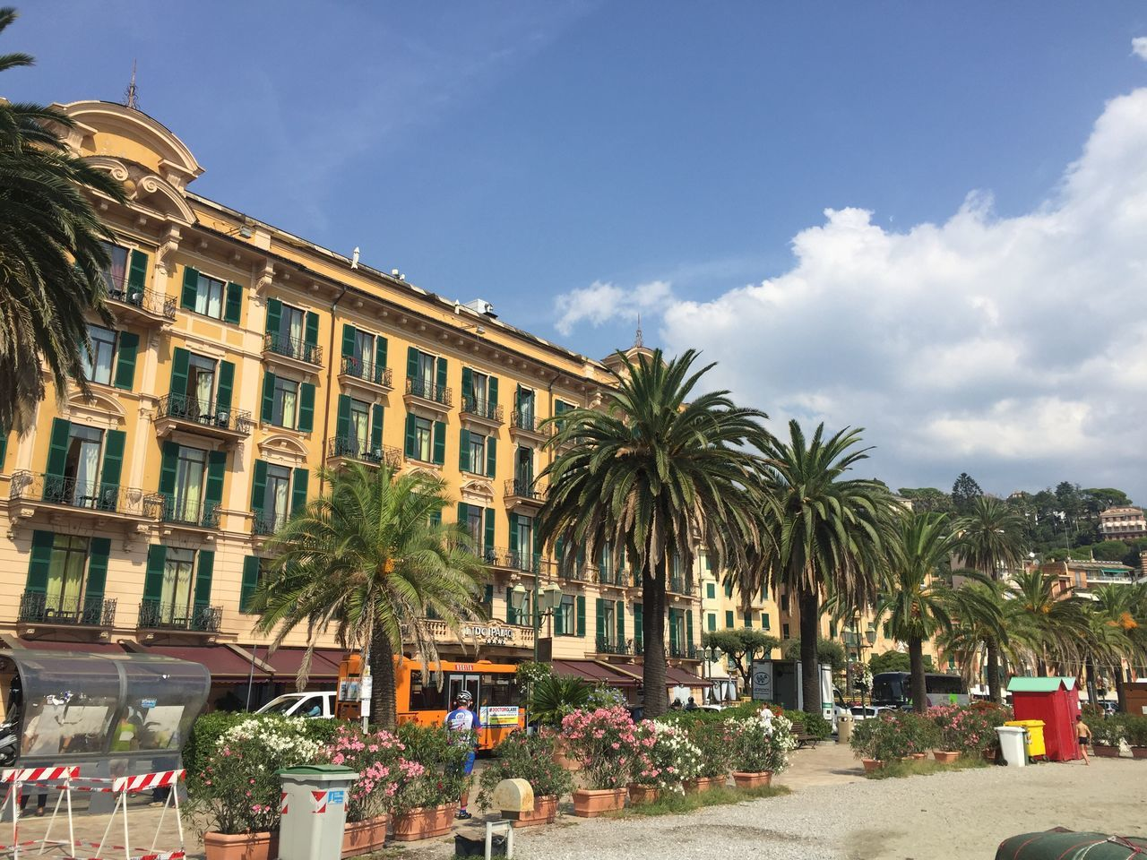 Cannes, France Cannes2016 Built Structure Palm Trees Warm Weather Street Is Empty