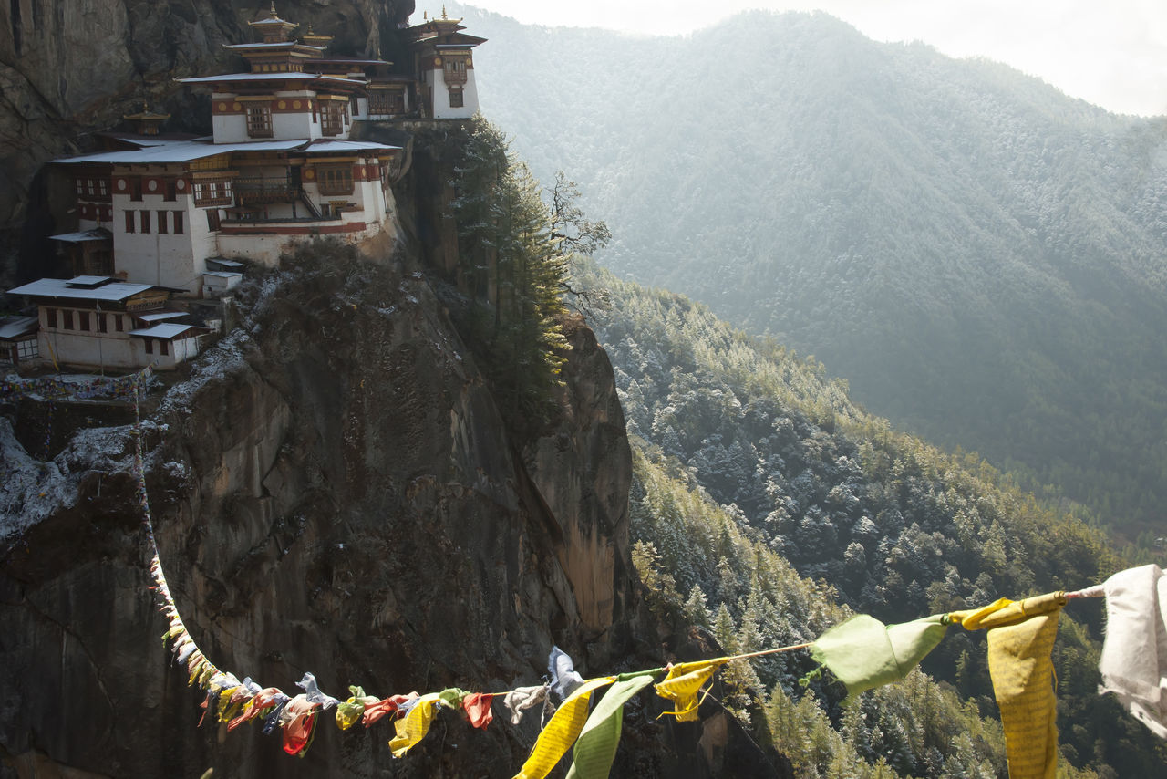 Taktsang Monastery (Tiger's Nest) - Bhutan Monastery Taktsang Taktsang Monastery Tiger's Nest Bhutan Mountain Paro Prayer Flags
