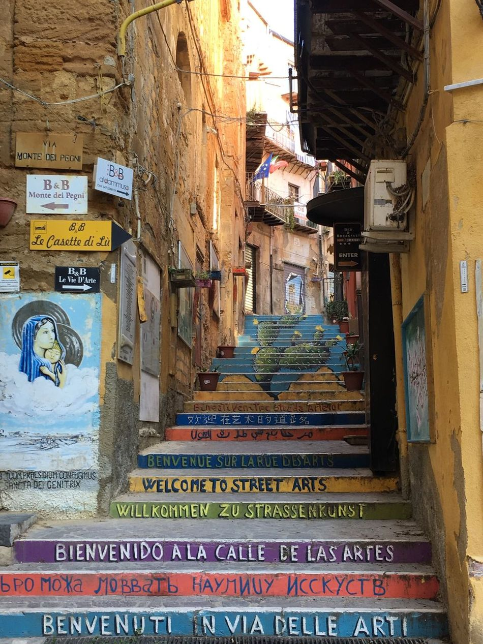 Art Is Everywhere Agrigento Sicily Architecture Built Structure Text Building Exterior Communication Day No People Outdoors Close-up